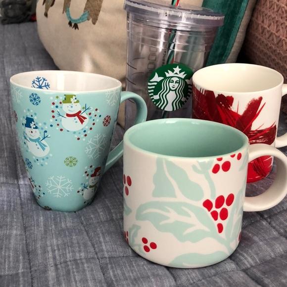 (4) Starbucks Christmas Cups - $20